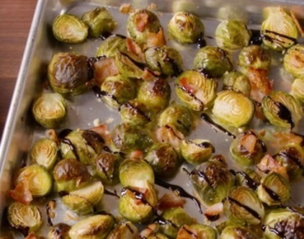 Bacon Balsamic Brussels Sprouts