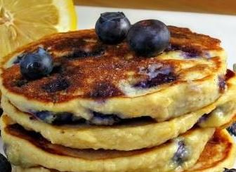 Blood Orange & Blueberry Wheat Pancakes