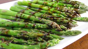 Roasted Asparagus Parmesan with Balsamic Glaze