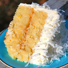 Citrus Olive Oil and Coconut Balsamic Rum Cake