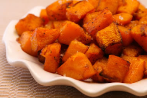 Pumpkin Pie Spiced Roasted Butternut Squash