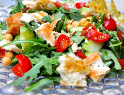 Blood Orange Olive Oil Salad w/Roasted Chicken and Feta Cheese