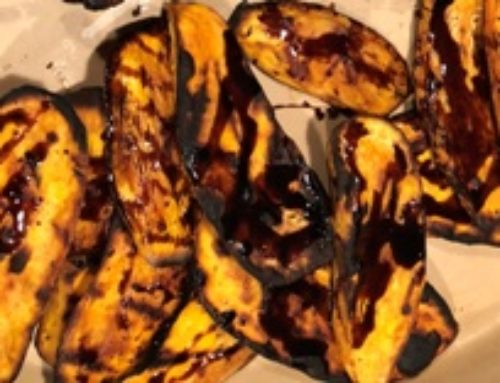 Grilled Balsamic Sweet Potatoes