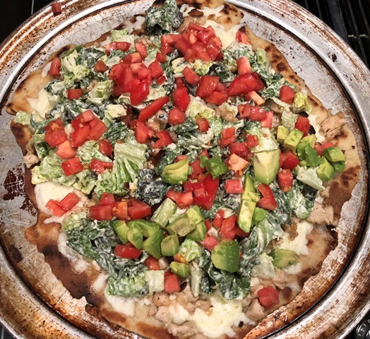 Mediterranean Club Griddle Pizza
