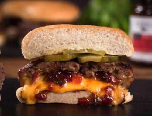 Juicy Lucy Bacon Jam Burger