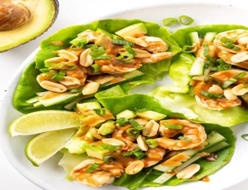 Spicy Keto Thai Shrimp Lettuce Wraps
