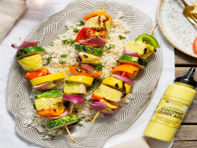Coconut Curry Kebabs