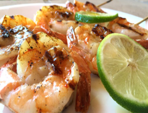 Grilled Jalapeno & Lime Shrimp Kabobs