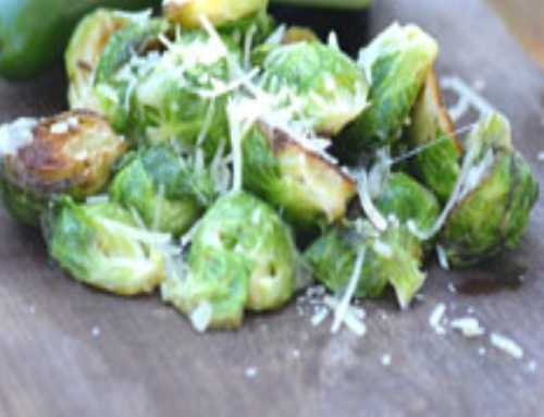 Roasted Garlic & Jalapeno Brussels Sprouts