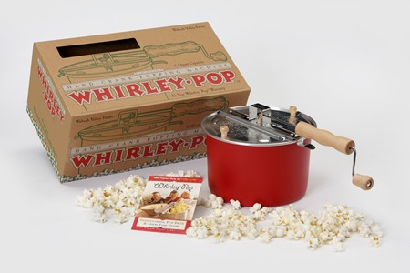 Barn Red Whirley Pop Stovetop Popcorn Popper Olive Oil Marketplace